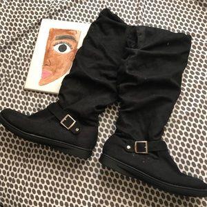 NWOT Lane Bryant Fur Lined Black Boots
